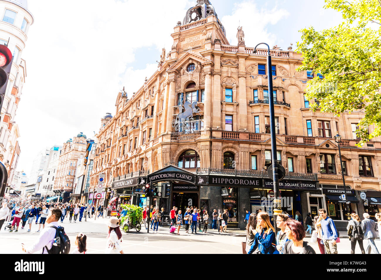 Hippodrome Casino London, Hippodrome Casino, Cranbourn Street, Leicester Square, London WC2H, United Kingdom, Hippodrome London, Hippodrome building - Stock Image