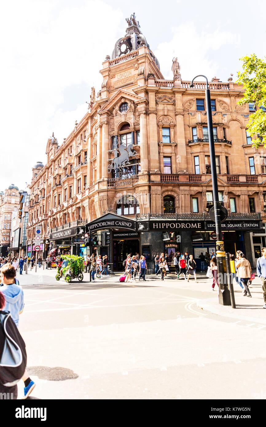Hippodrome Casino London, Hippodrome Casino, Cranbourn Street, Leicester Square, London WC2H, United Kingdom, Hippodrome - Stock Image