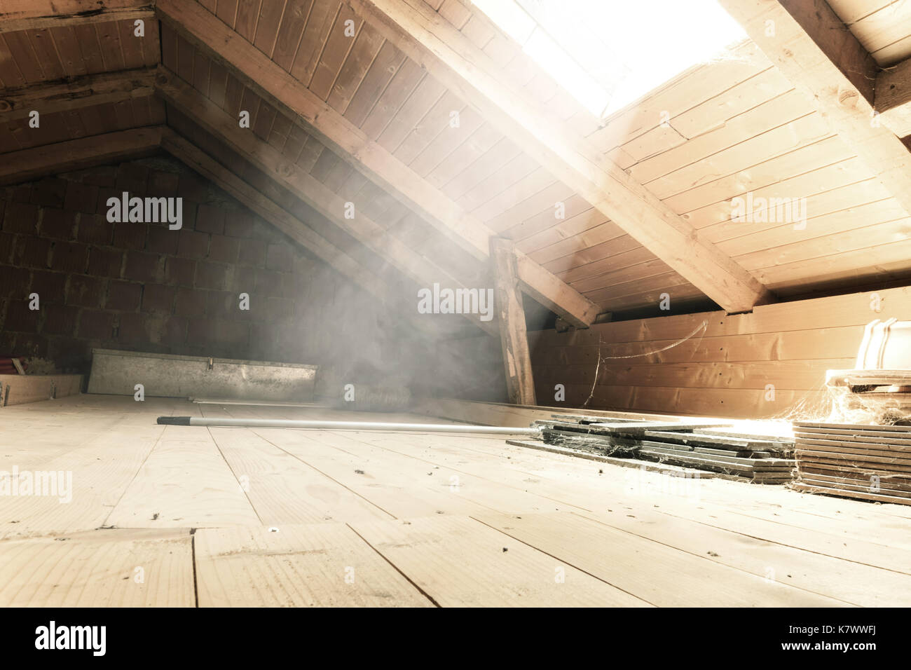 Old Dark Attic Background Stock Photos Amp Old Dark Attic