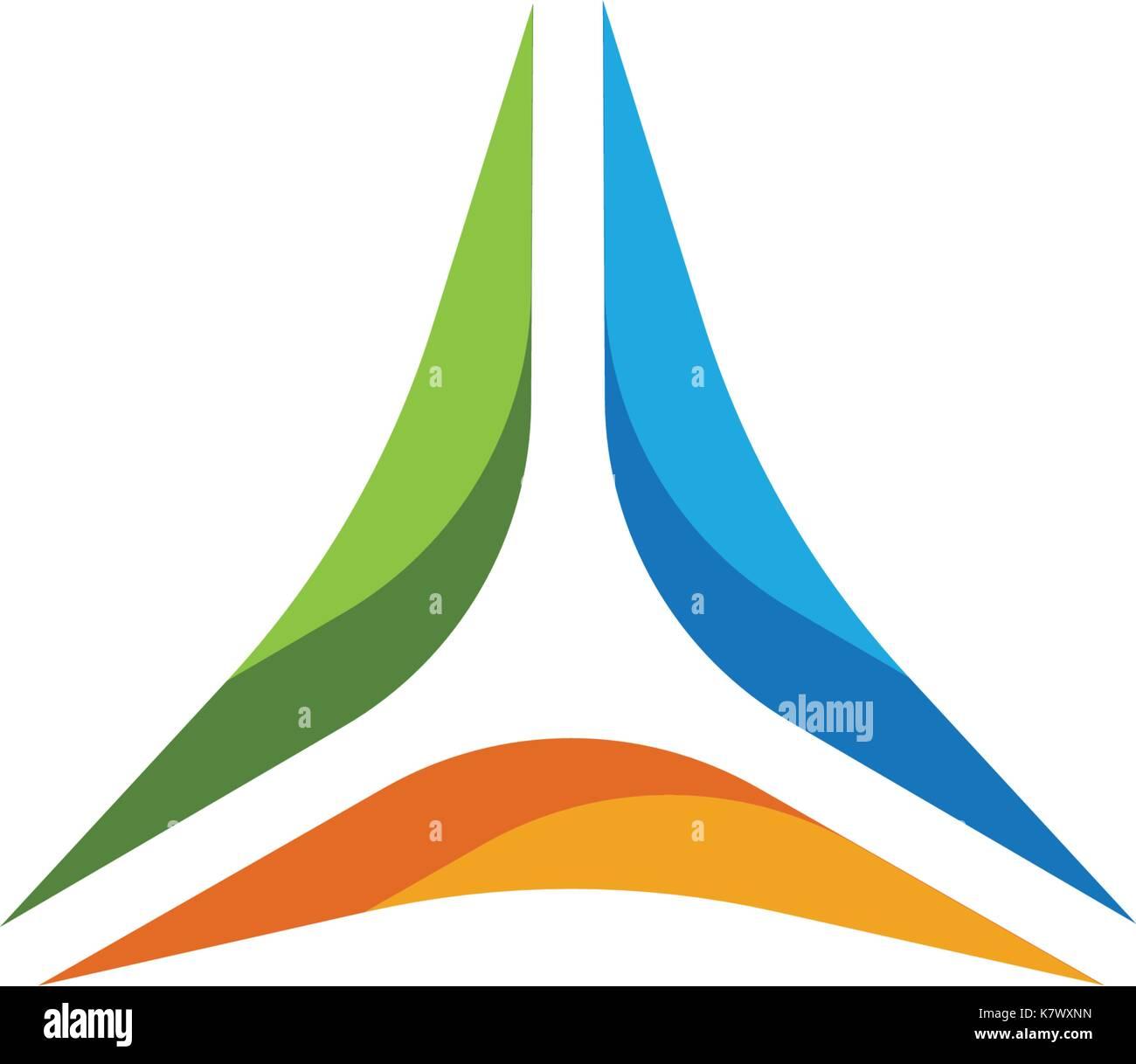 Triangle Logo Template vector icon illustration design - Stock Vector