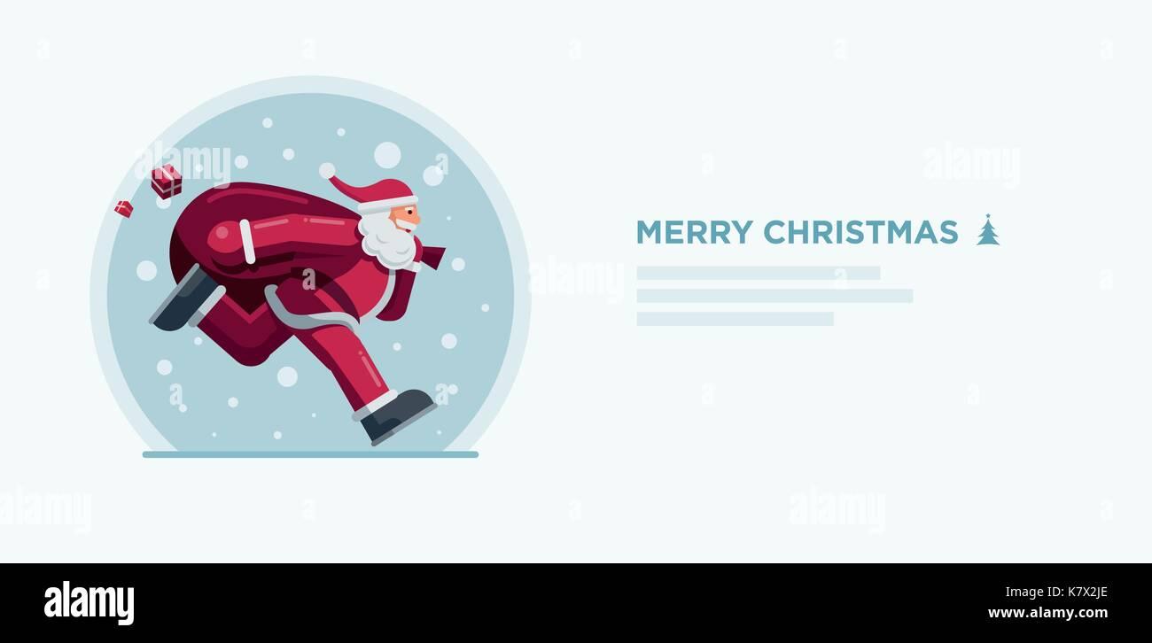 Vector illustration of Santa Claus. Christmas concept design. - Stock Vector
