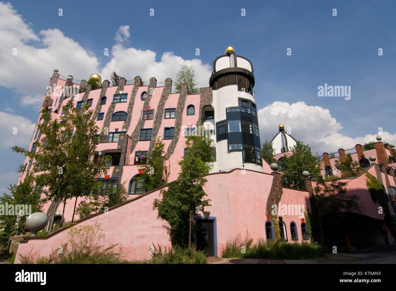 """die """"Grüne Zitadelle"""" in Magedeburg (Hundertwasser-Architektur) Stock Photo"""
