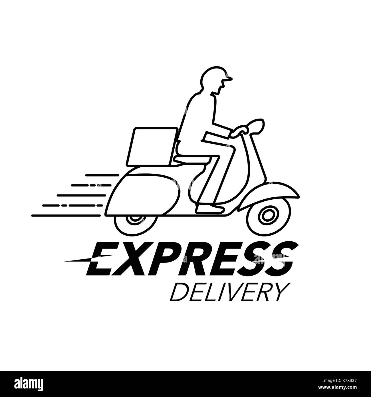 express delivery icon concept scooter motorcycle service