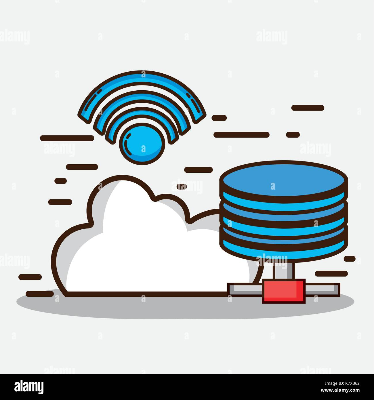data center system service with information - Stock Image