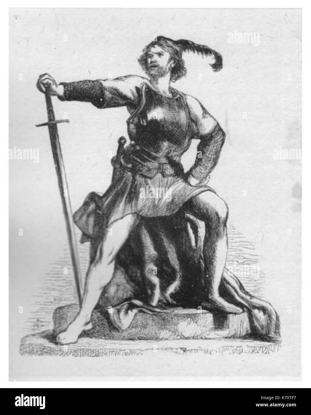 Jack Cade on London Stone - Stock Image
