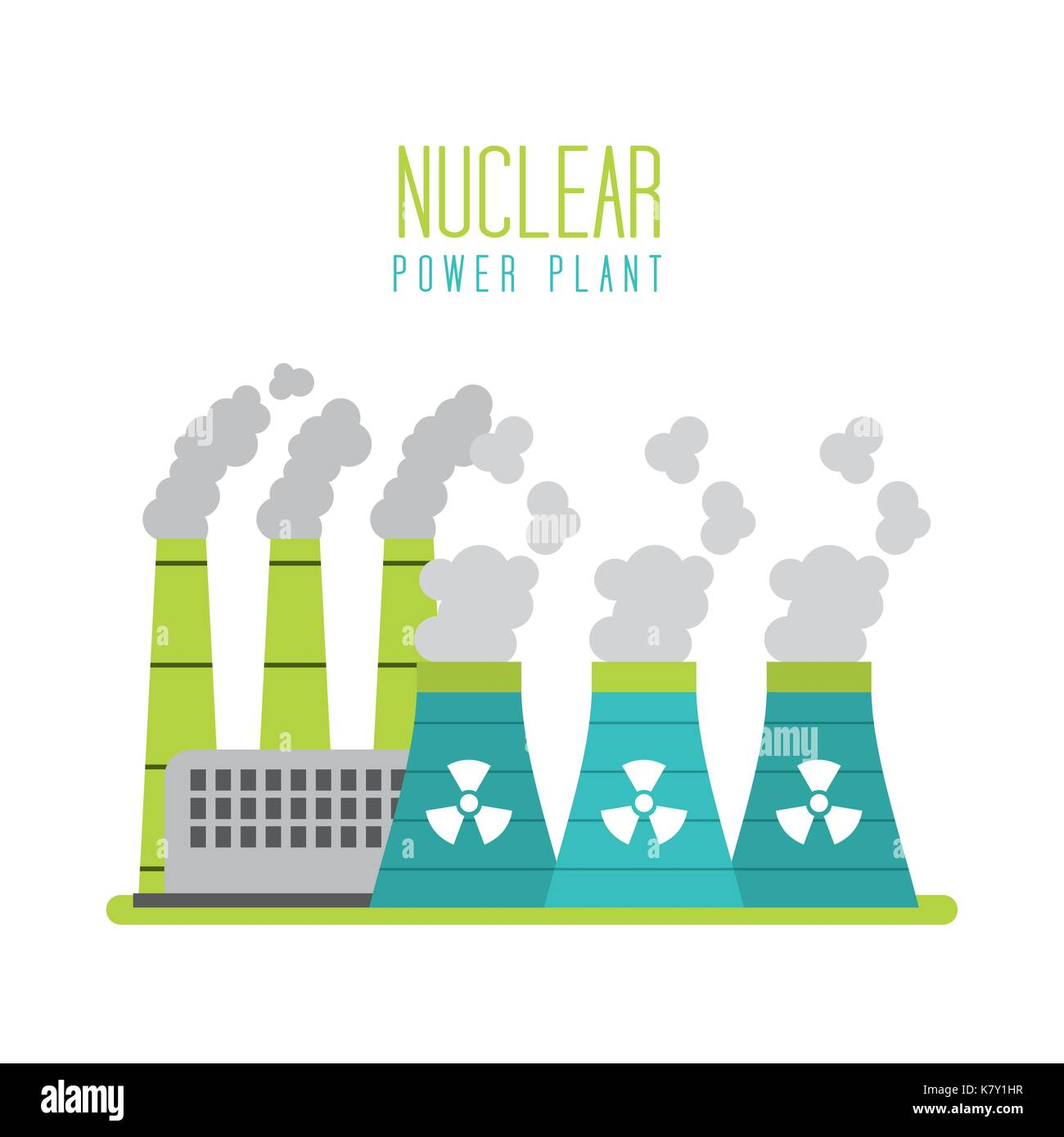 nuclear power plant energy station generation - Stock Image