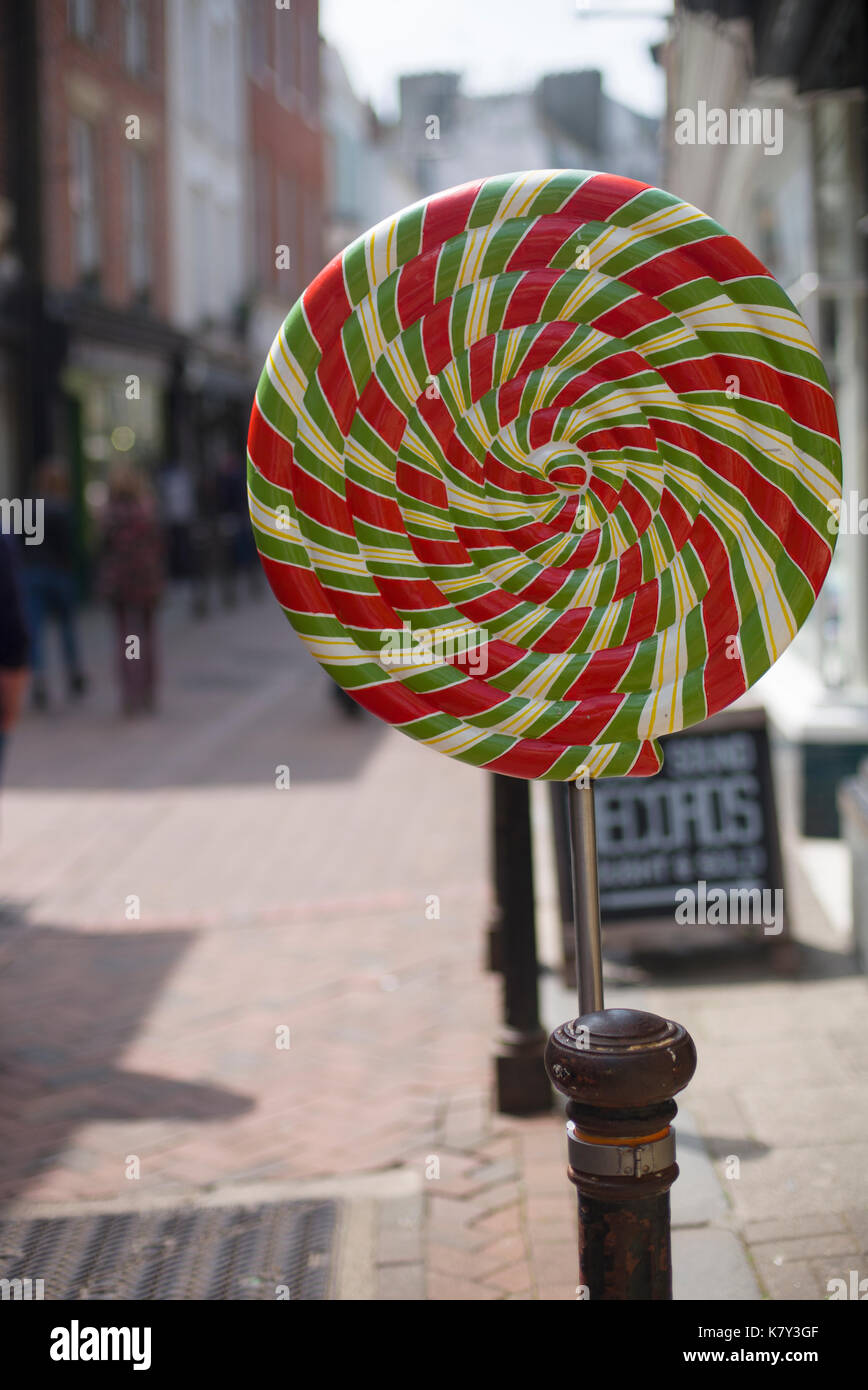 Whirligig outside shop, Hastings, Sussex - Stock Image