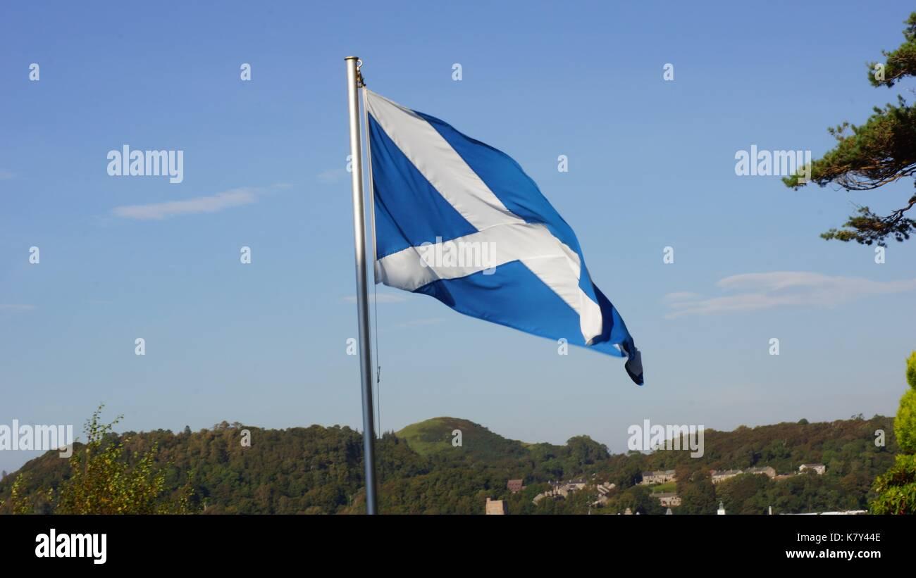 Scotland,, St Andrews Cross - Stock Image