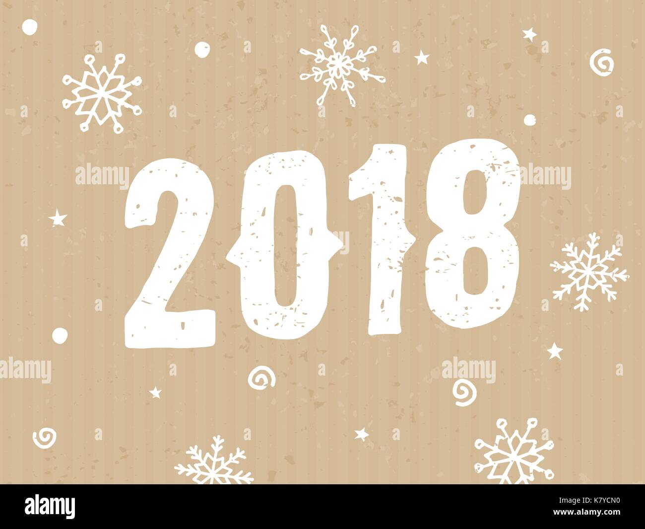 2018 typographic design greeting card template with text and stock
