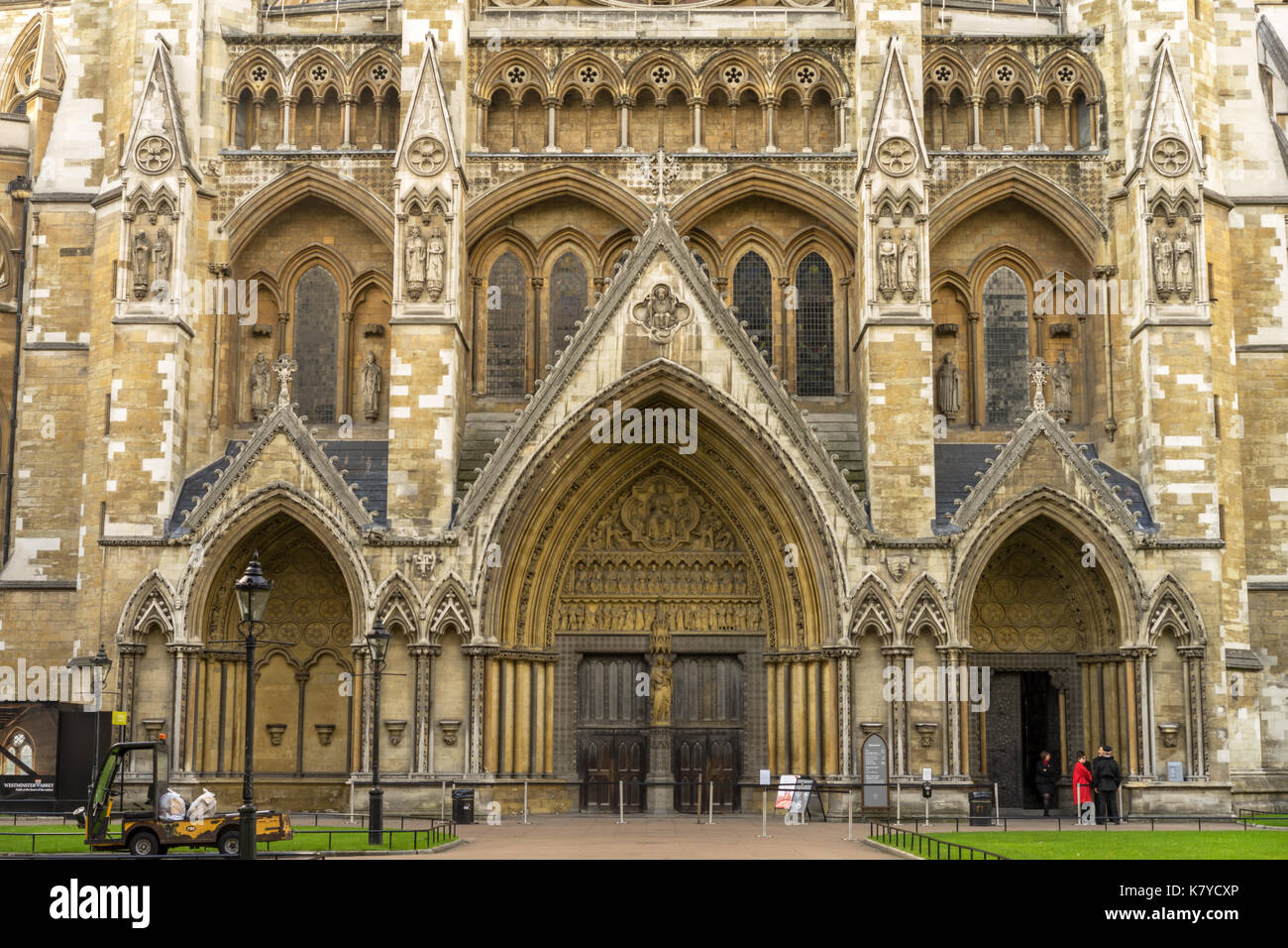North entrance of Westminster Abbey - Stock Image