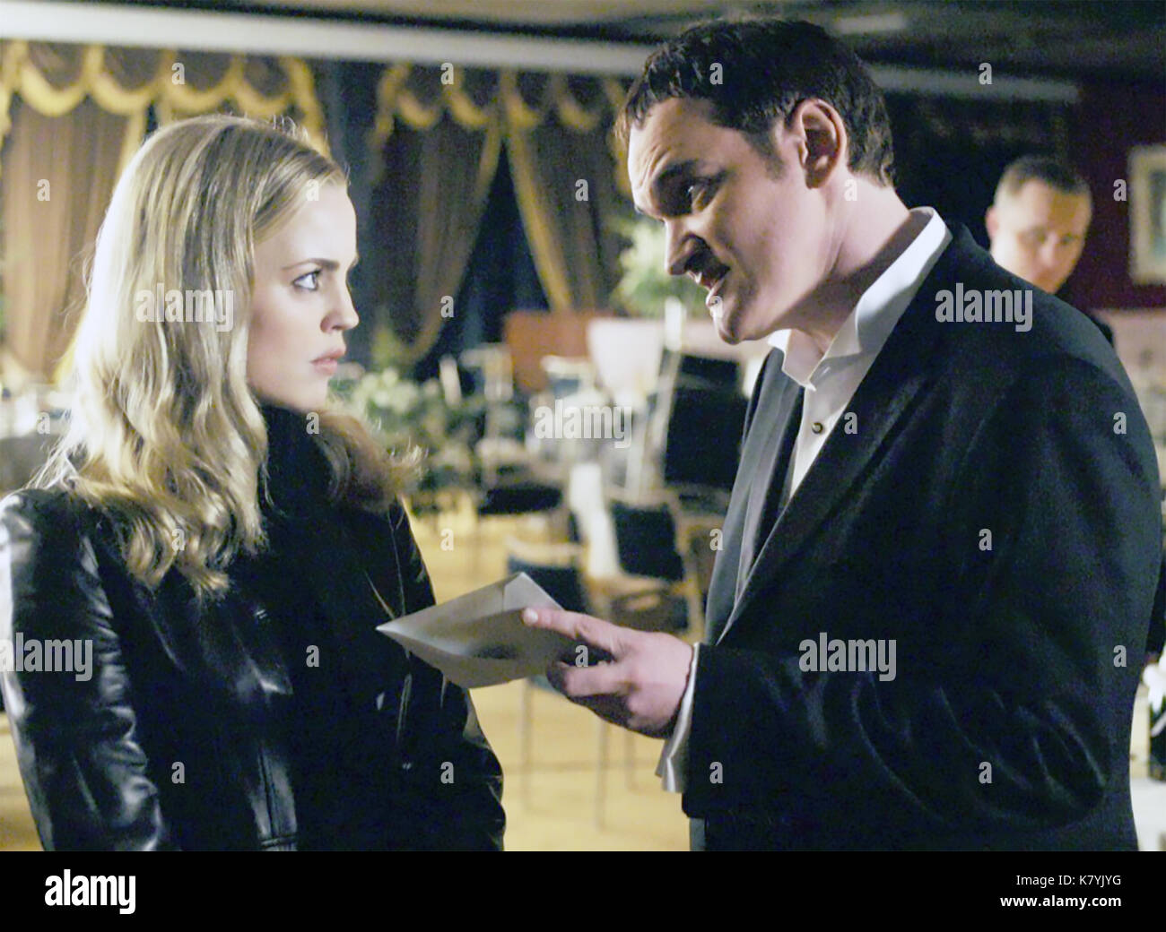 ALIAS 2001-2006 Touchstone Television series with Melissa George and Quentin Tarantino - Stock Image