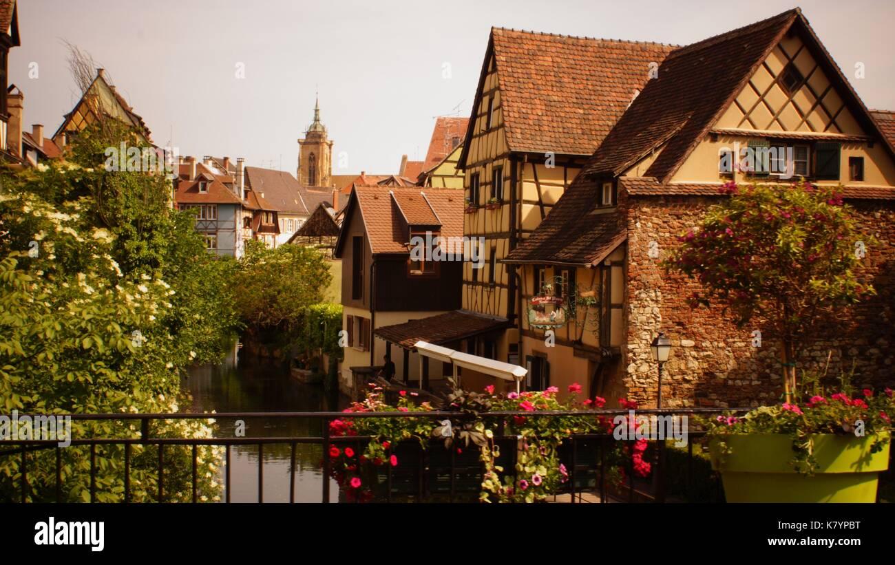 Colmar Alsace France - Stock Image