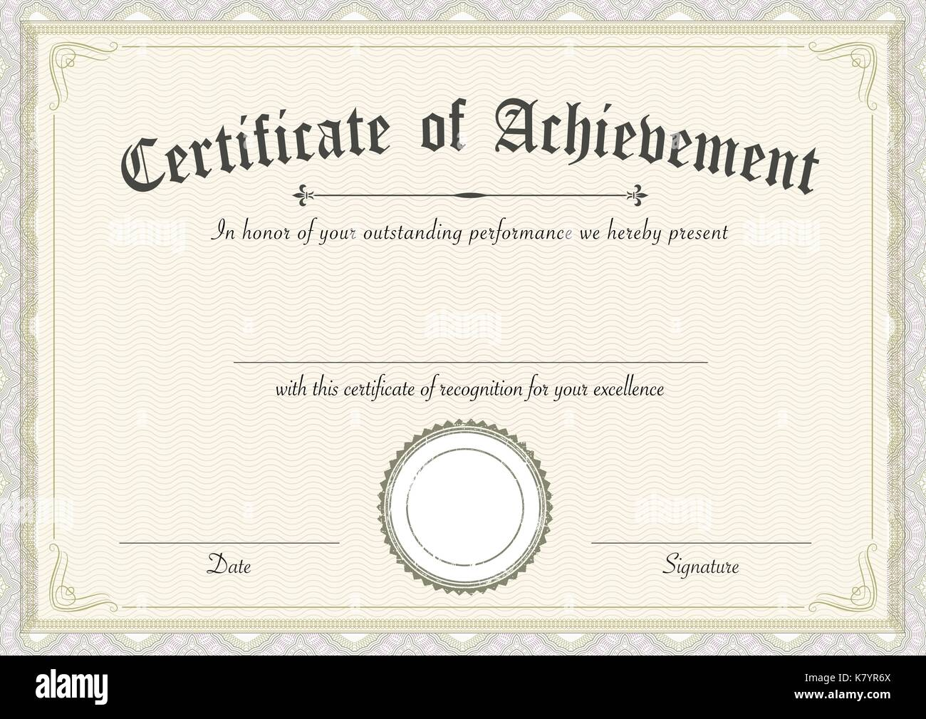 A3 International Paper Size Classic And Retro Certificate Of Stock