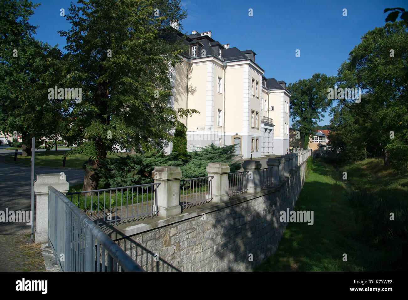 Krzyzowa Palace in Krzyzowa, Poland. 24 August 2017 © Wojciech Strozyk / Alamy Stock Photo - Stock Image