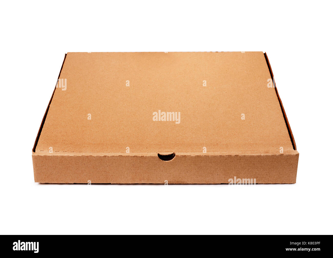 c4451b977 Brown pizza box template isolated on white background Stock Photo ...