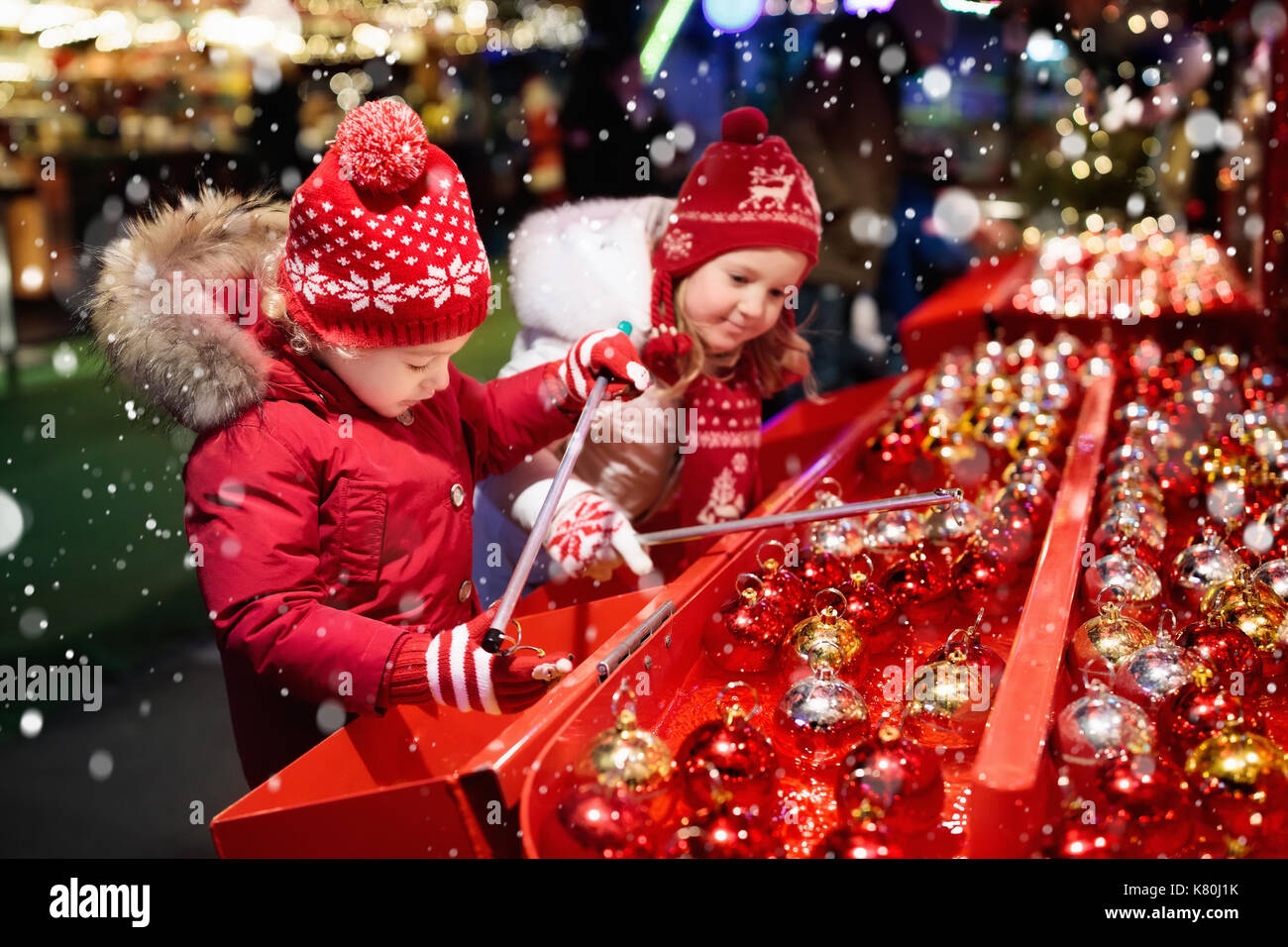 Christmas Shopping Kids Childhood Stock Photos & Christmas Shopping ...