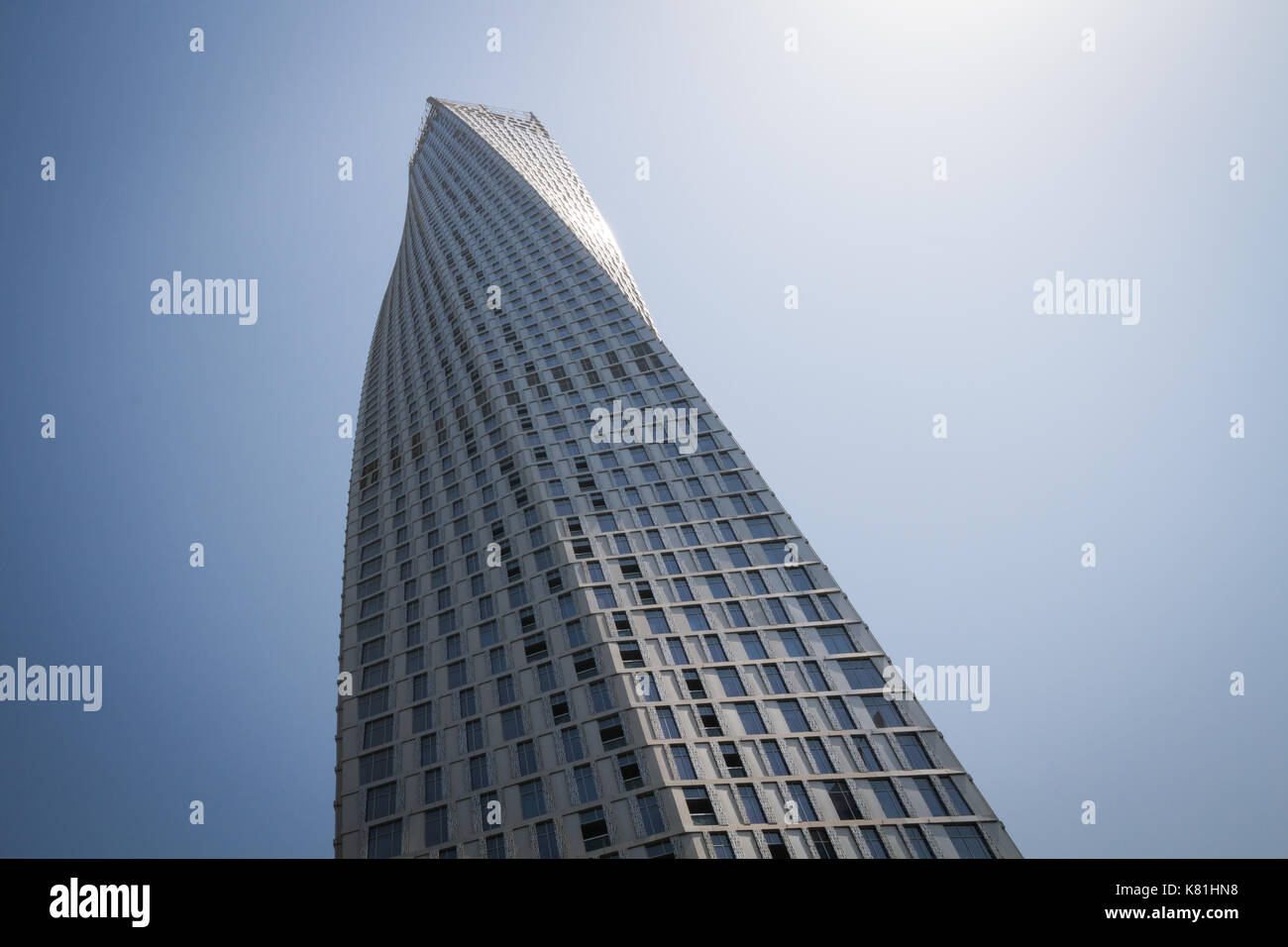 Cayan Tower Detail - Stock Image