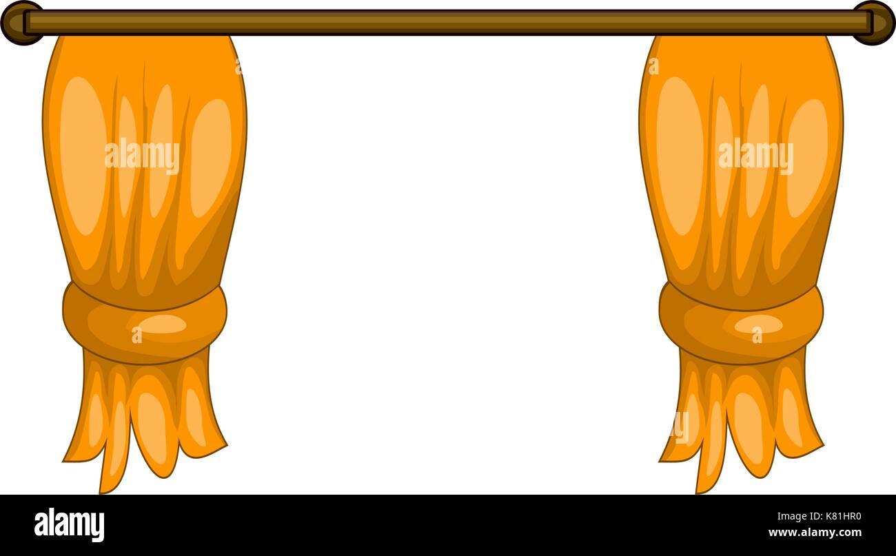 Cartoon Curtains Vector Symbol Icon Design Beautiful Illustration Isolated On White Background