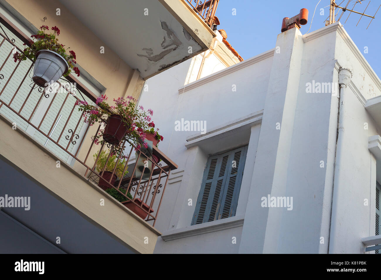 Part of buildings,classical Greek architectural style. - Stock Image