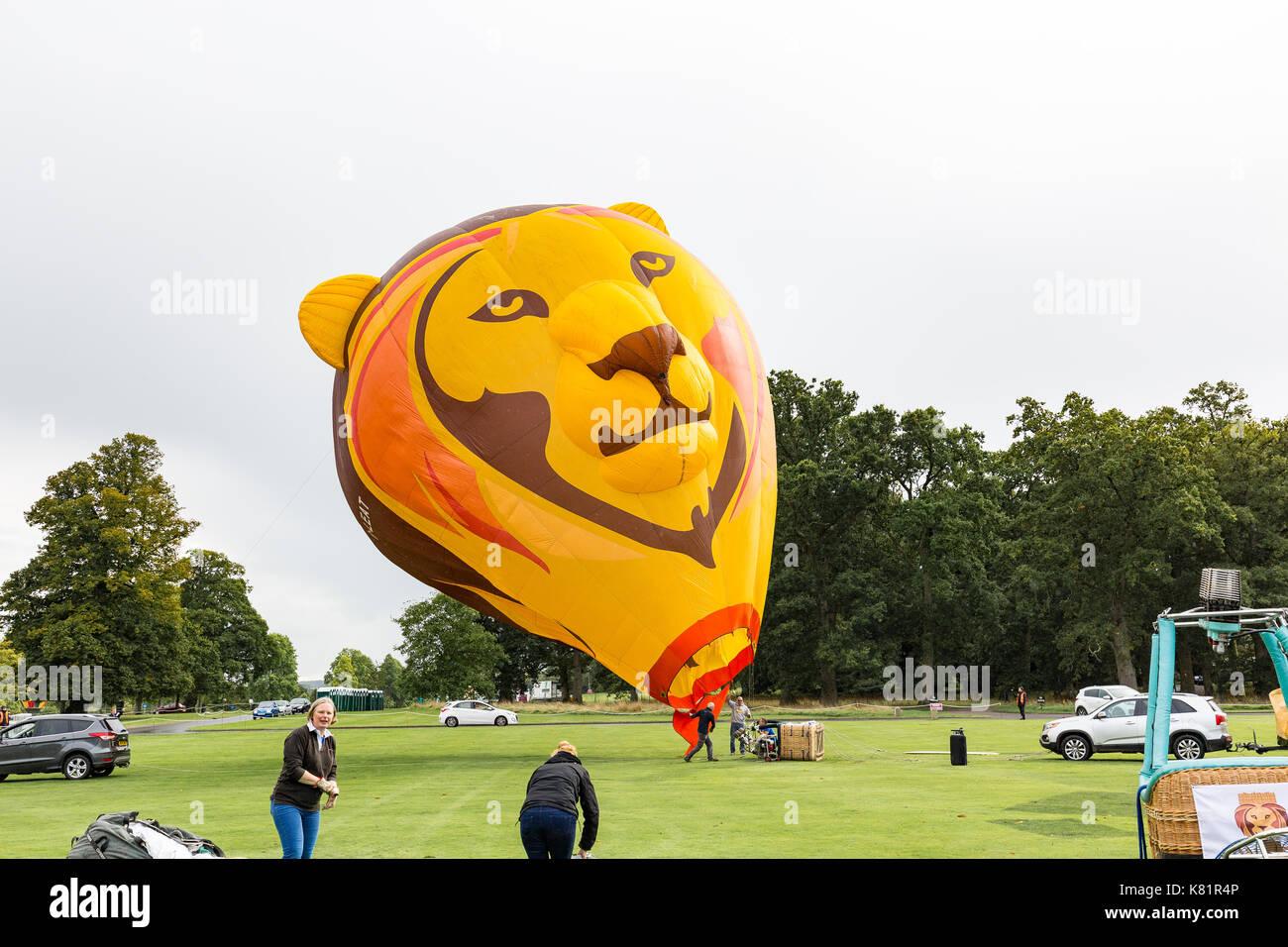 Longleat Sky Safari held at Loingleat Safari Park in Warminster Wilts. - Stock Image