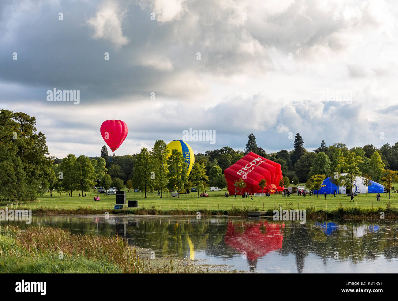 Longleat Sky Safari held at Loingleat Safari Park in Warminster Wilts. - Stock Image