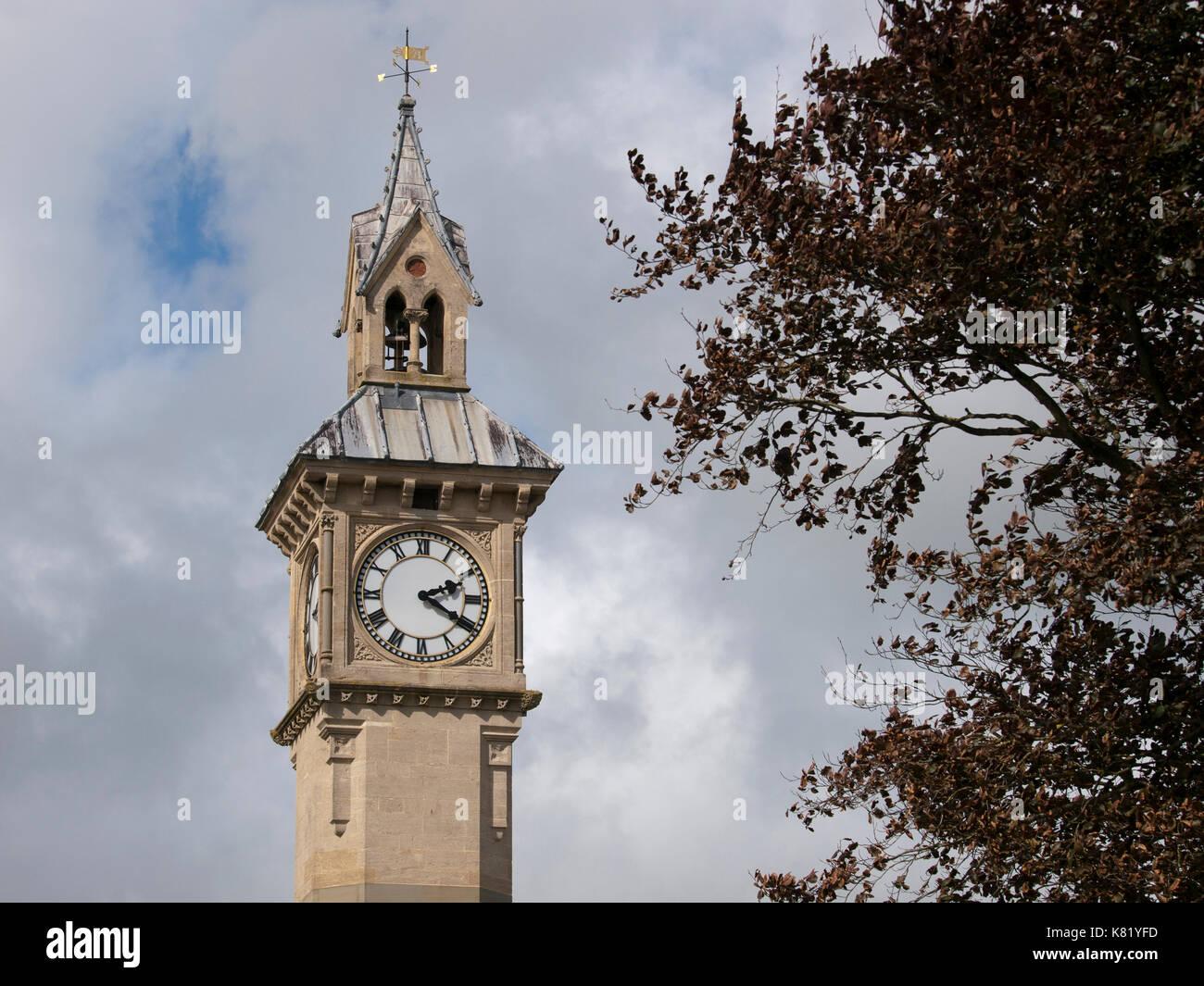 Prince Albert Memorial Clock in Barnstaple, Devon, UK - Stock Image