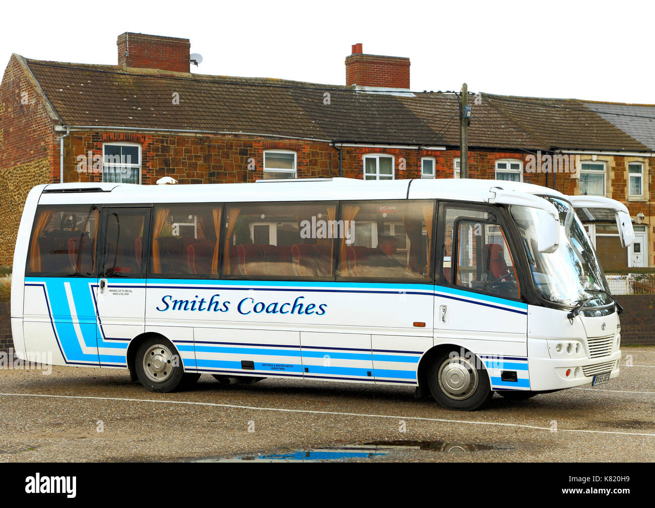 Smith's Coaches, coach, day trips, trip, excursion, excursions, holiday, holidays, transport company, companies, travel, England, UK - Stock Image