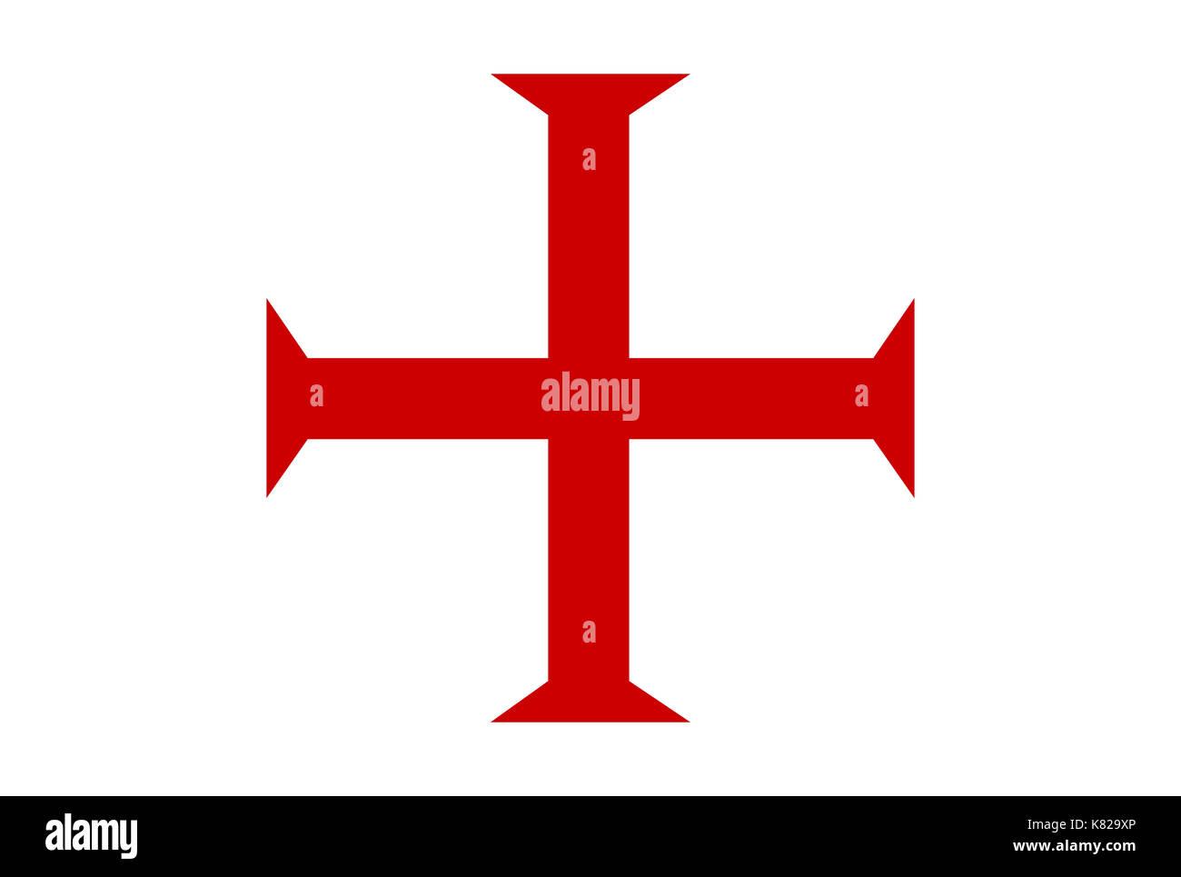 malta order templar knights red cross symbol - Stock Image