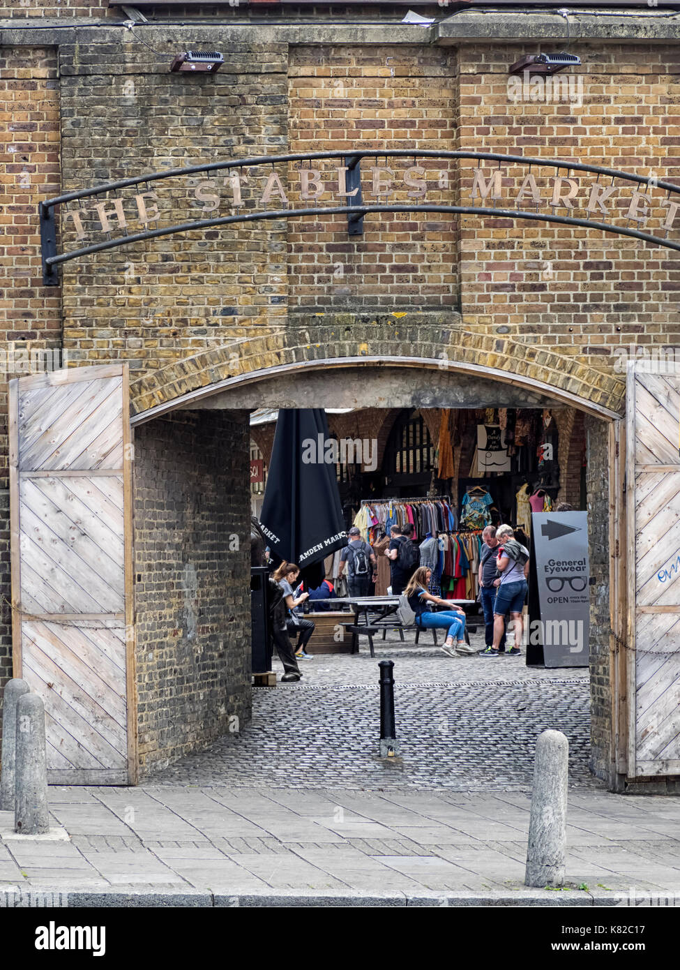 CAMDEN MARKET, LONDON:  Arched entrance to the Stables market - Stock Image