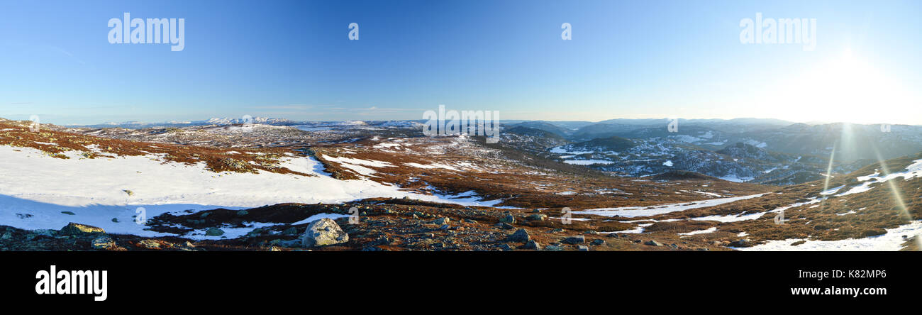 Gaustaråen, Tuddal, Norway - Stock Image
