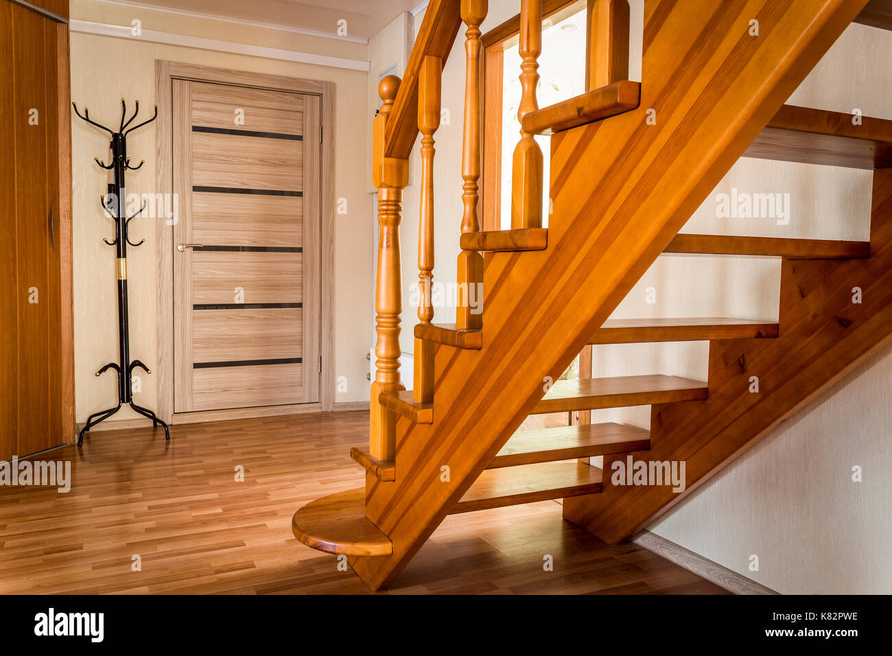 Attrayant Steps Wooden Interior Stairs Of A Private House Close Up ...