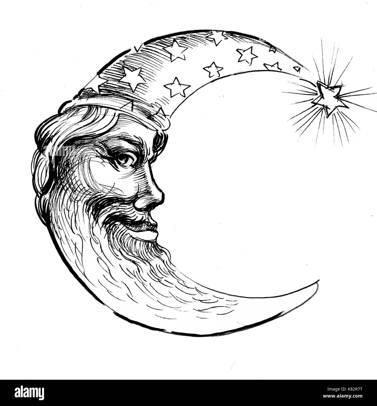 Moon Face Stock Photo 159872716