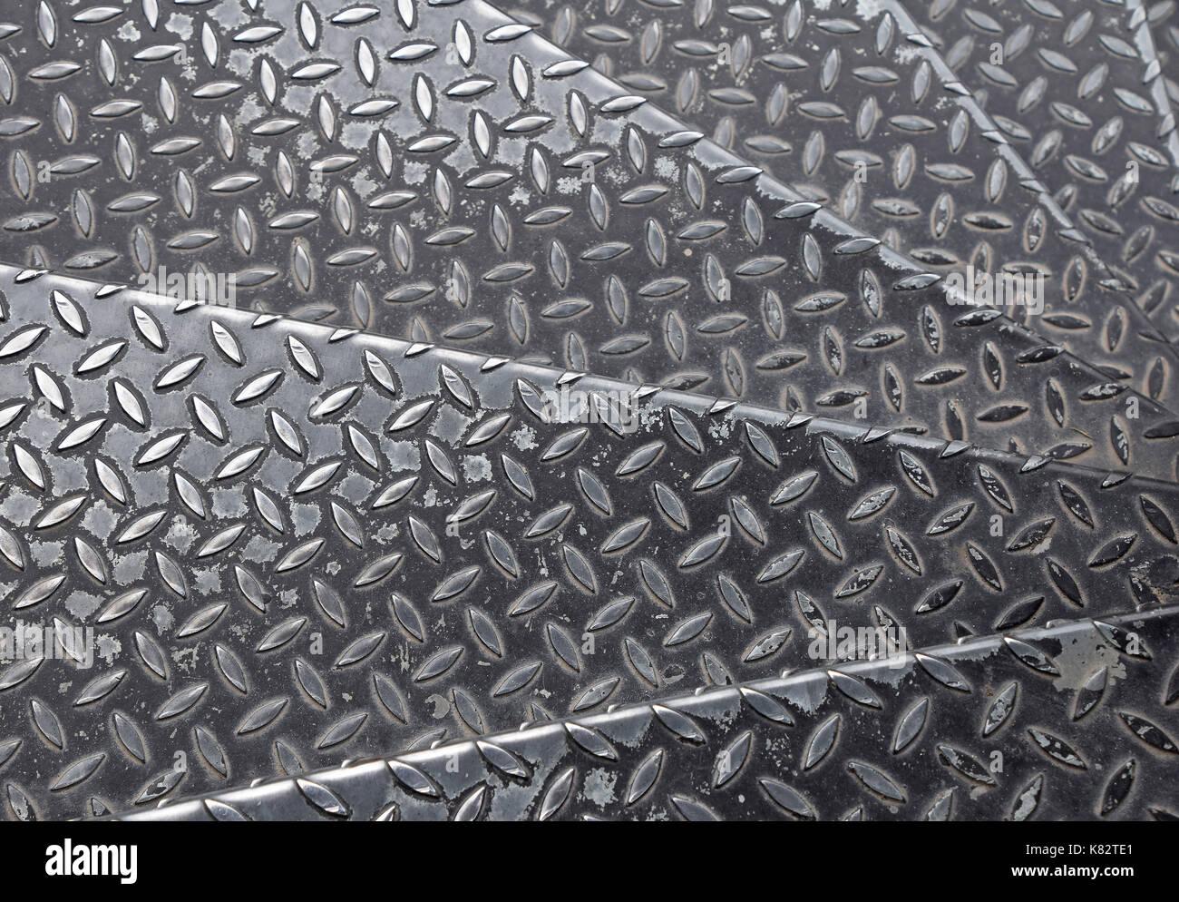 Black Painted Industrial Anti Slip Embossed Metal Steel Plate Steps