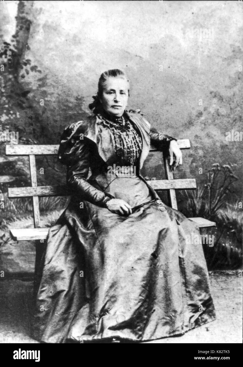 amalia freud, sigmund freud mother - Stock Image