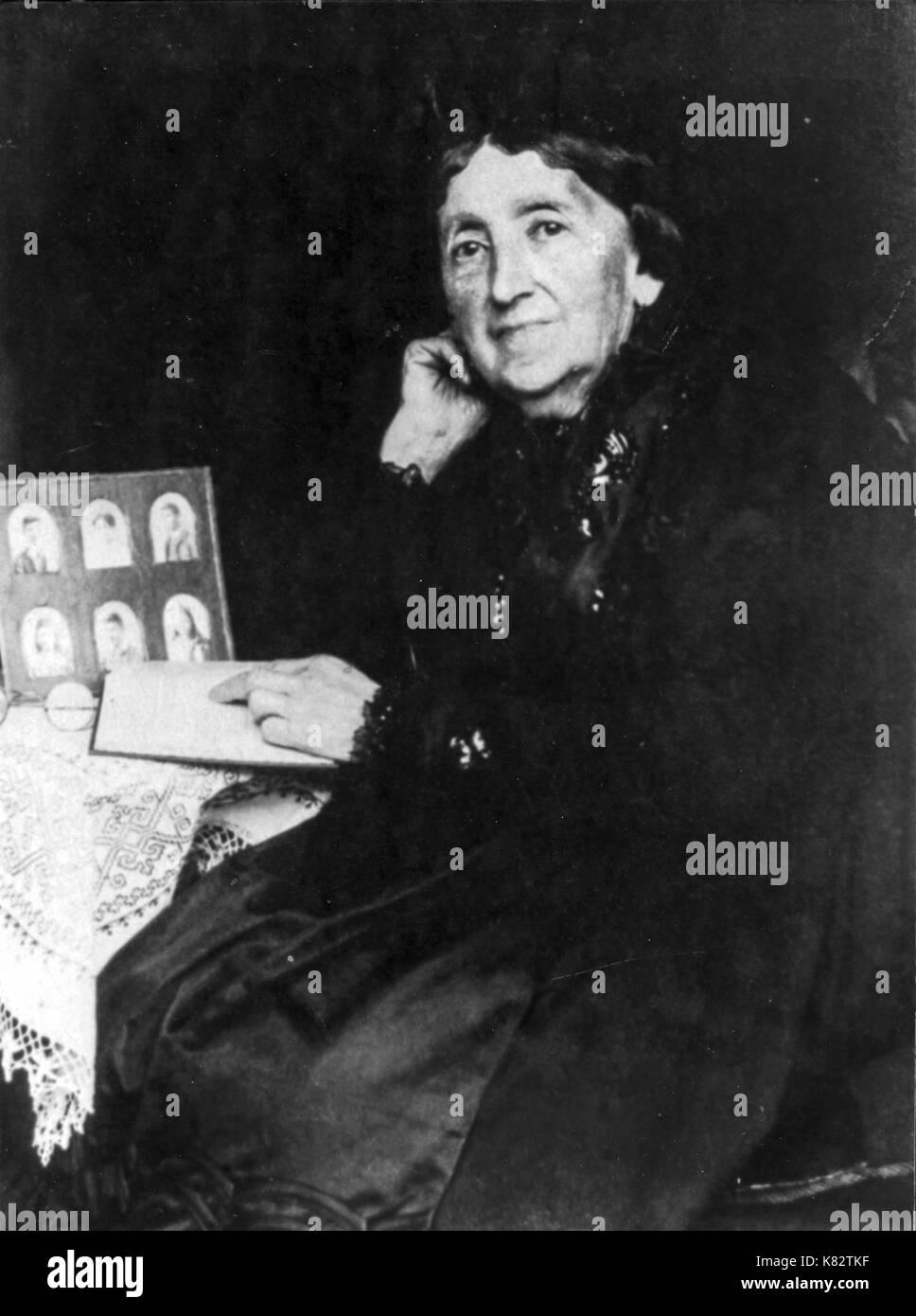 emmeline bernays, Mother of Martha, Sigmund Freud's wife - Stock Image