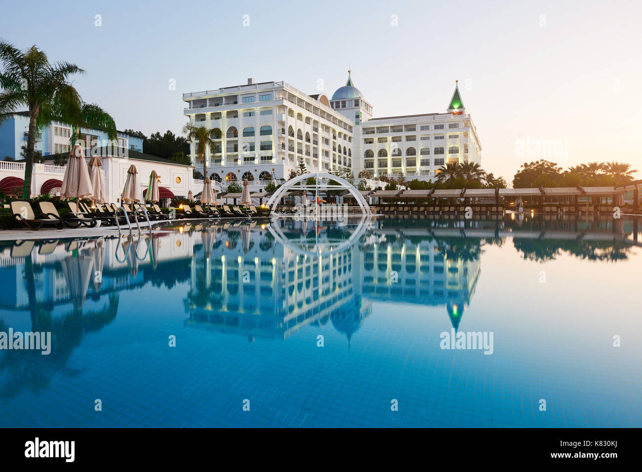 Swimming Pool And Beach Of Luxury Hotel Type Entertainment Complex