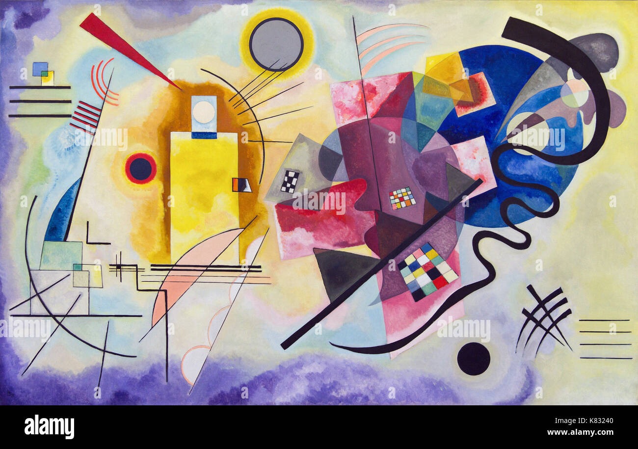 Kandinsky Geometric Painting Stock Photos & Kandinsky Geometric ...