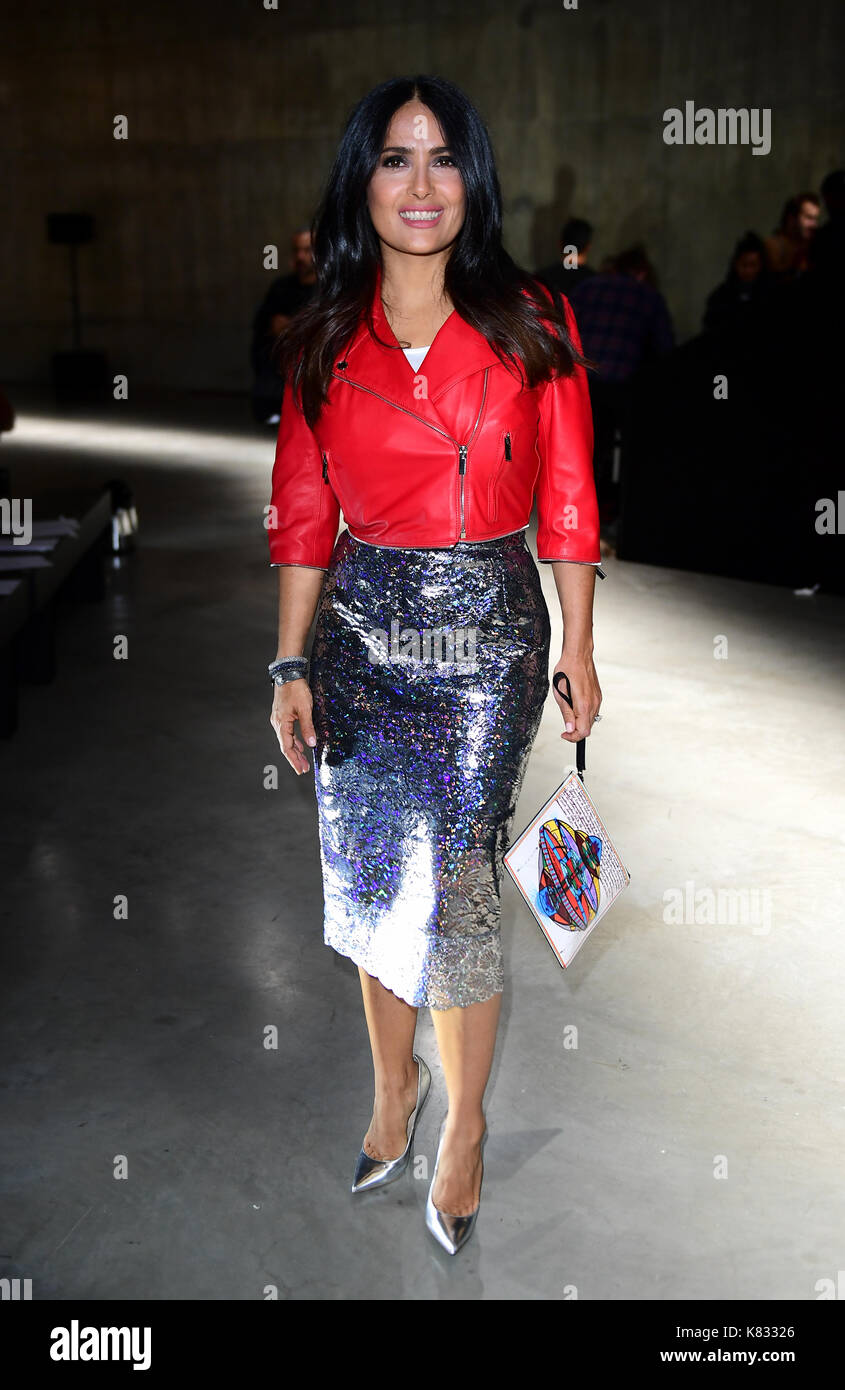 Salma Hayek during the Christopher Kane Show as part of