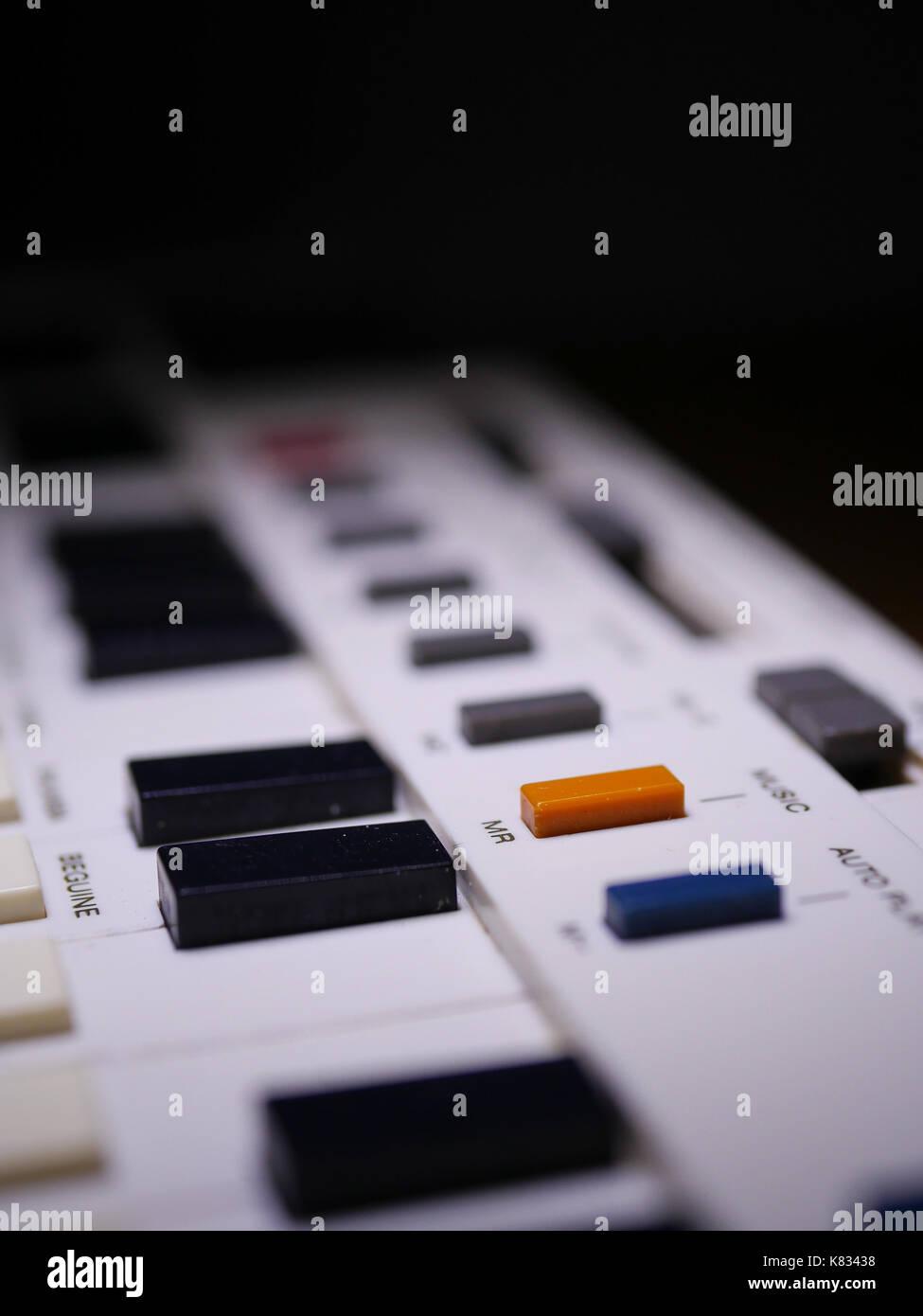 Classic Japanese pocket-sized synthesizer - Stock Image