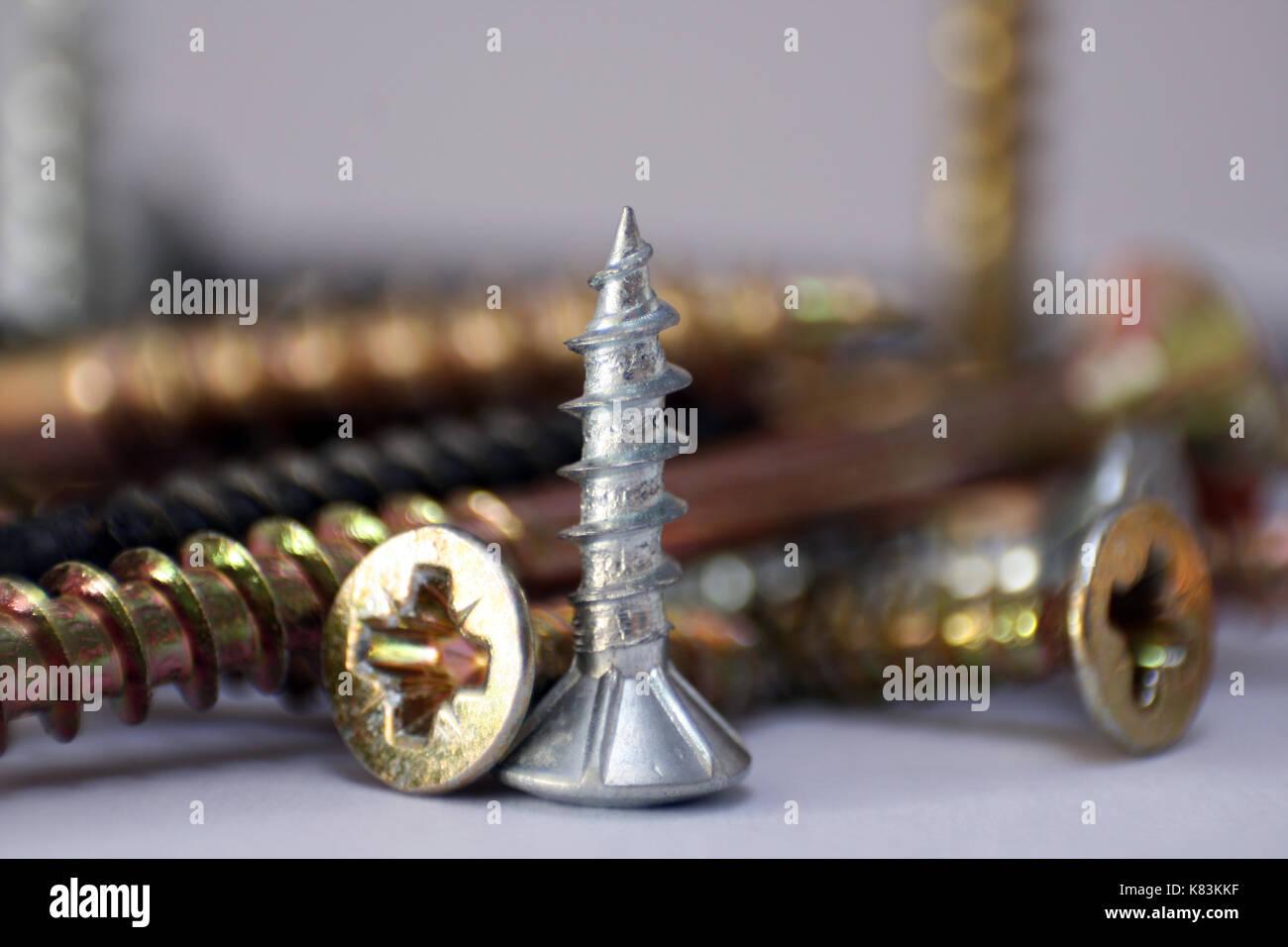 Schrauben im Detail nicht sotiert - Stock Image