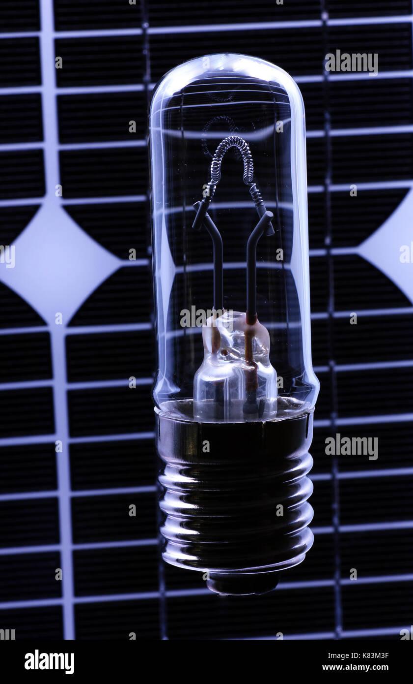 Solarstrom, solar light - Stock Image
