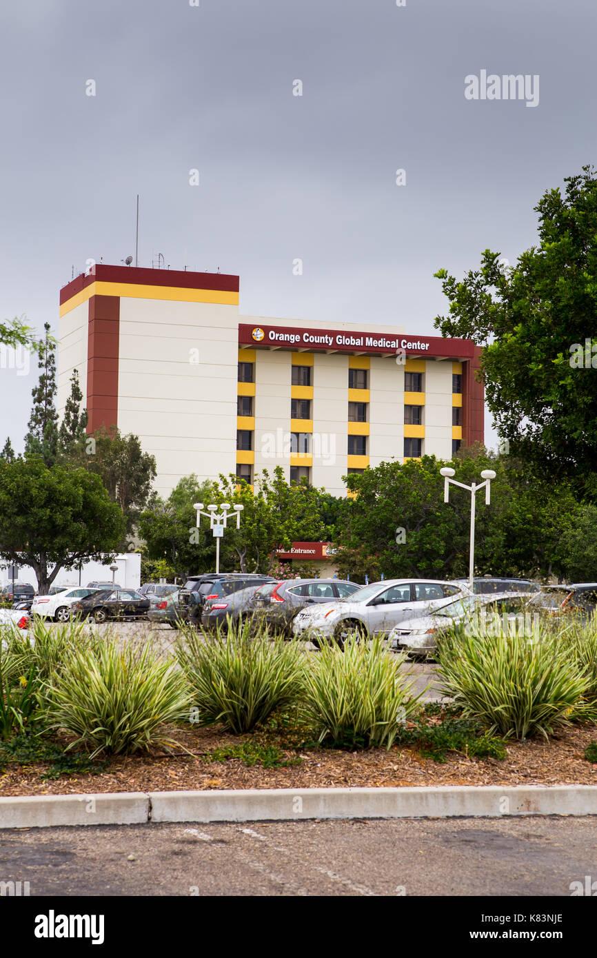 Orange County Global Medical Center Hospital in Santa Ana providing health care services to the local Orange County community in California USA - Stock Image
