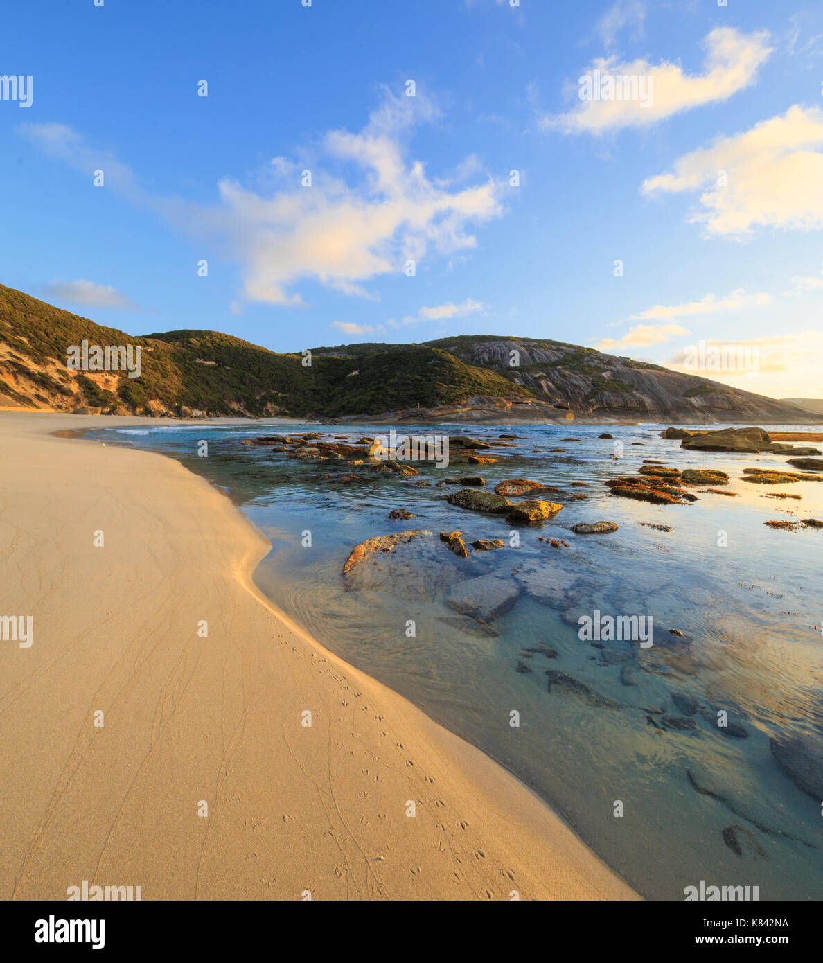 Sunrise at Salmon Holes in Torndirrup National Park - Stock Image