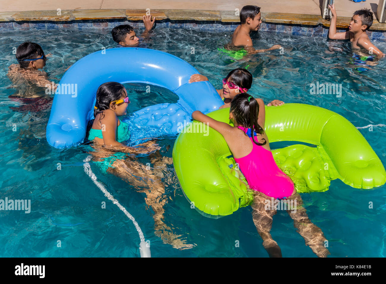 Kids Pool Party Stock Photos Kids Pool Party Stock Images Alamy