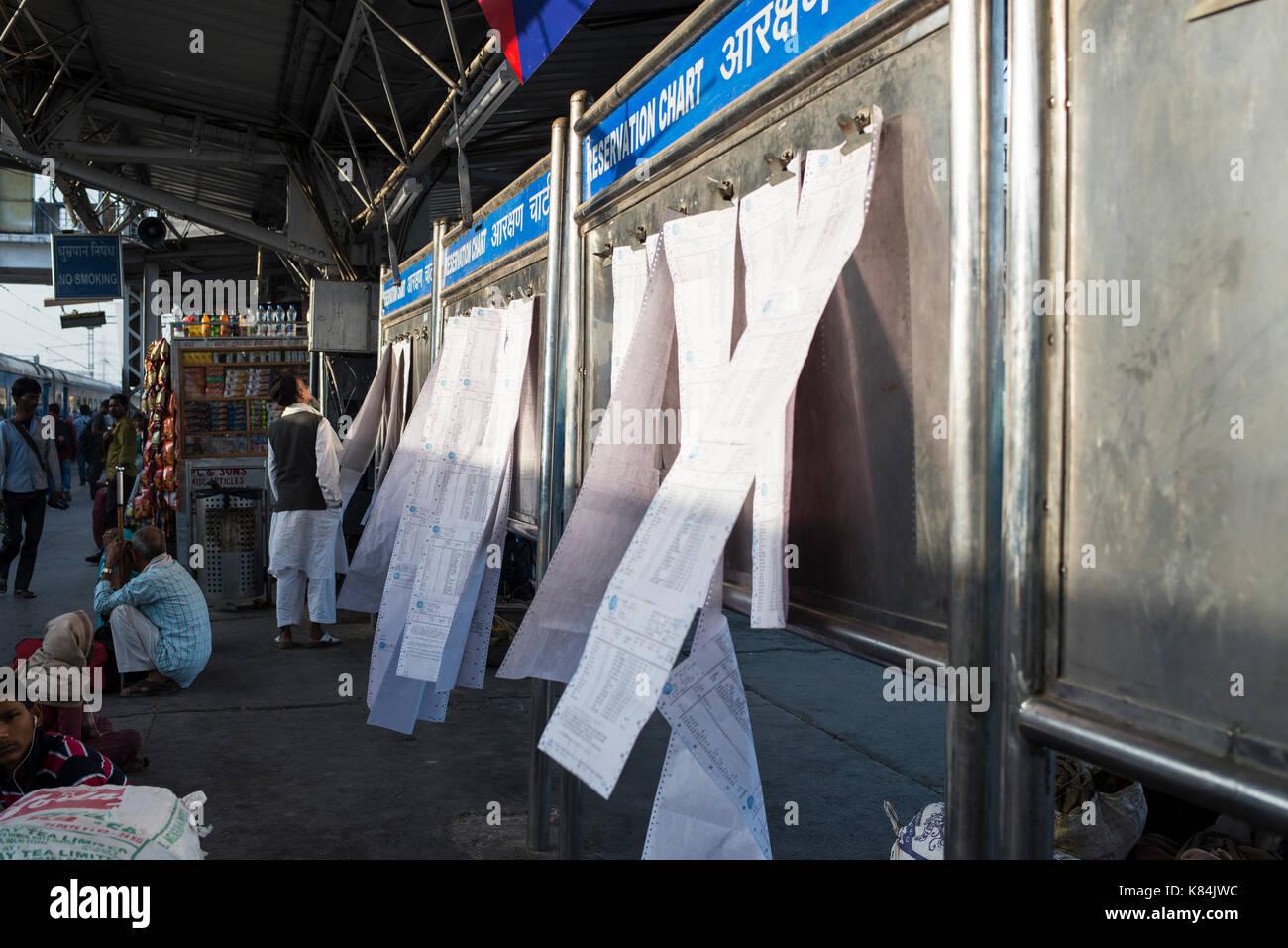 Passenger lists, Delhi - Stock Image