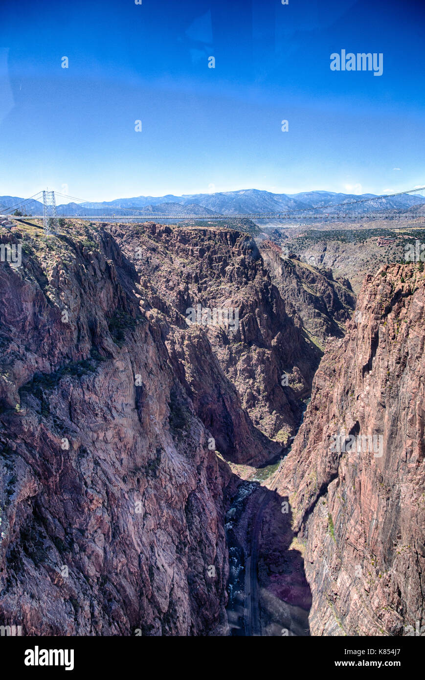Royal Gorge Canyon And The Associate Suspension Bridge Draw