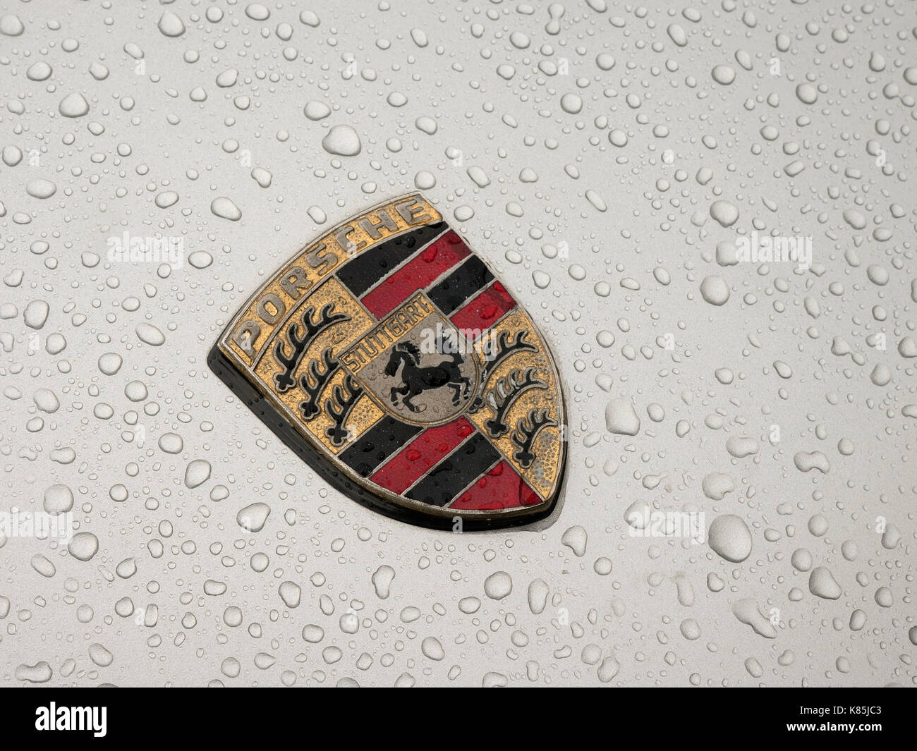 1x Silver Chrome S Emblem Porsche Badge Turbo S 911 918 Spyder 718 Cayman Boxter
