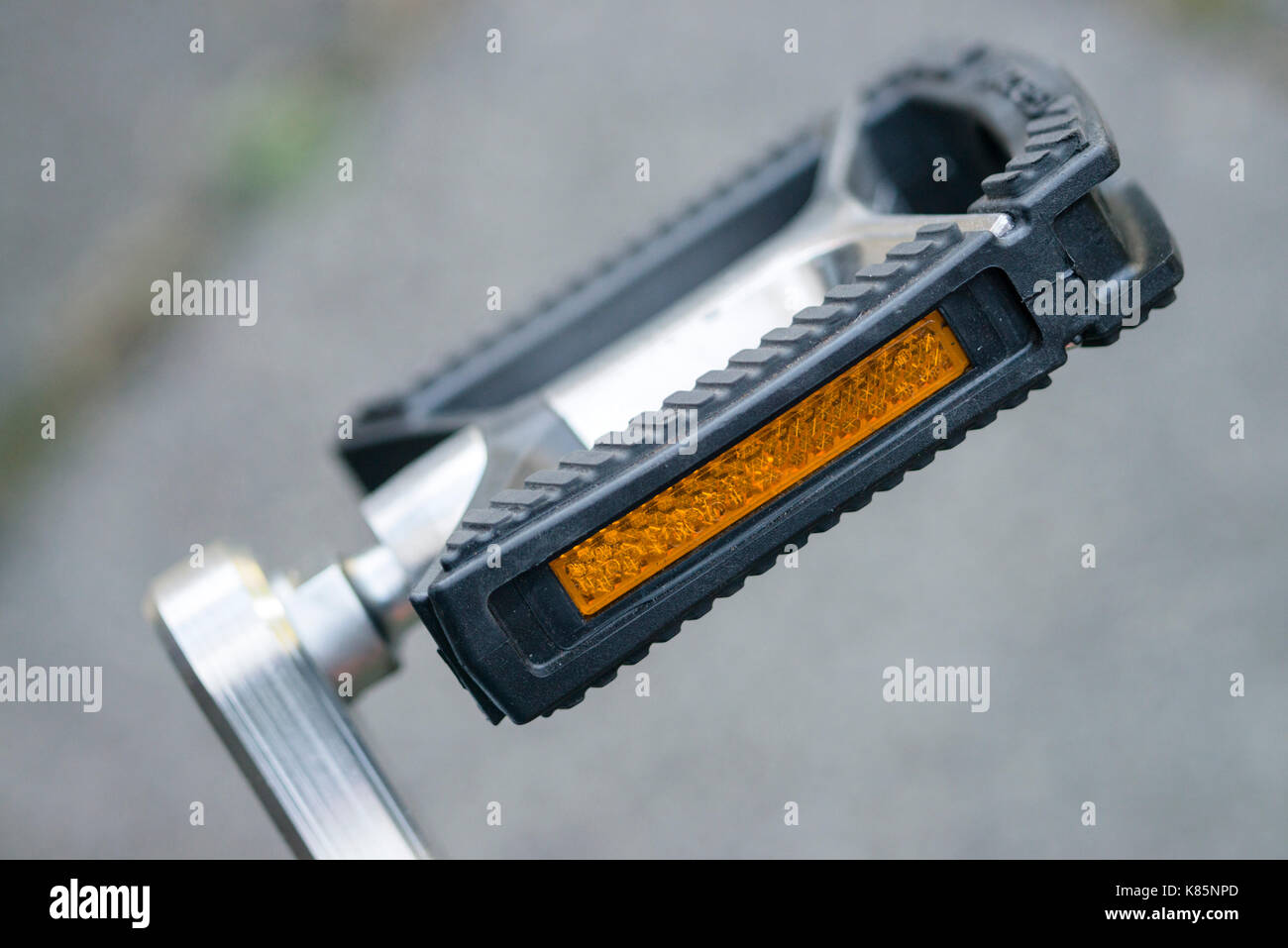 Bicycle pedal close-up - Stock Image