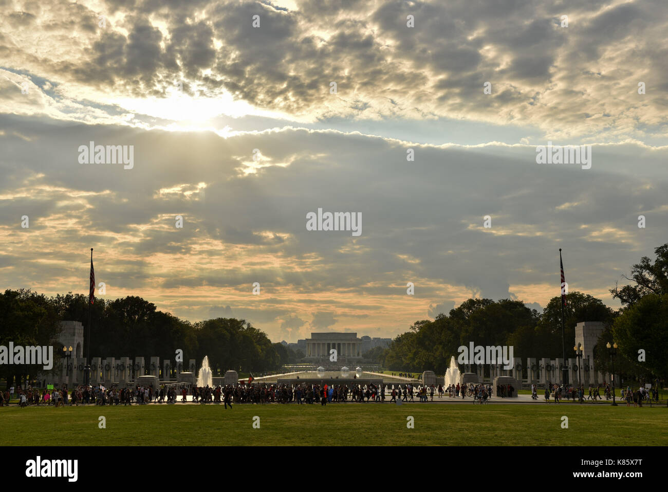 Washington, District of Columbia, USA. 16th Sep, 2017. Juggalo participants march on the National Mall. Insane Clown Stock Photo