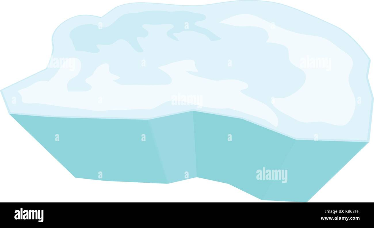 ice floe vector symbol icon design. Beautiful illustration isolated on white background - Stock Vector